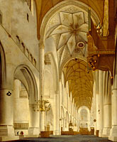Pieter Jansz. Saenredam: The Interior of St Bavo's Church, Haarlem (the 'Grote Kerk')