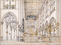 Interior of the Church of St. Lawrence (Groote Kerk or Great Church) in Alkmaar, 1661