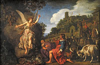 Питер Ластман: The Angel Raphael Takes Leave of Old Tobit and his Son Tobias