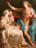 Помпео Батони: Apollo and two Muses