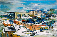 Preston Dickinson: Winter, Harlem River