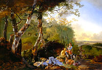 Adam Pynacker: Landscape with Sportsmen and Game