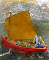 Odilon Redon: La Voile jaune (The Yellow Sail)