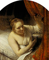 Rembrandt: A Woman in Bed (1)