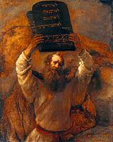 Рембрандт: Moses Smashing the Tablets of the Law