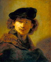 Рембрандт: Self-portrait in a Velvet Beret