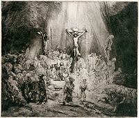 "Rembrandt: Christ Crucified Between the Two Thieves (""The Three Crosses"") - State ii/v"