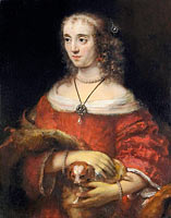 Portrait of a Lady with a Lap Dog