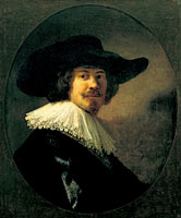 Rembrandt: Portrait of a Man in a Broad-Brimmed Hat
