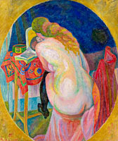 Robert Delaunay: Nude woman reading