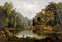 Robert S. Duncanson: Blue Hole, Flood Waters, Little Miami River