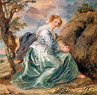 Peter Paul Rubens: Hagar in the Desert