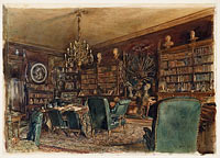 The Library in the Apartment of Count Lanckoronski in Vienna, Riemergasse 8