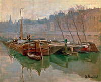 Сантьяго Русиньол: Boats on the Seine