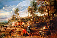 Peter Paul Rubens: Milkmaids with Cattle in a Landscape, 'The Farm at Laken'