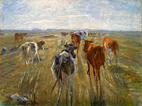 Теодор Филипсен: Long Shadows. Cattle on the Island of Saltholm
