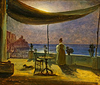 Томас Фернли: A Terrace in Amalfi in Moonlight