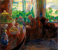 Торвальд Эриксен: Interior with the Painter Oluf Wold-Torne