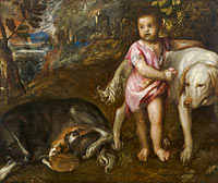 Titian: Boy with Dogs in a Landscape