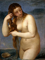Titian: Venus Rising from the Sea ('Venus Anadyomene')