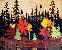 Unknown Painter: Black Spruce and Maple