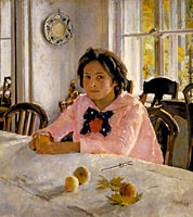 Валентин Александрович Серов: Girl with peaches. Portrait of V.S.Mamontova
