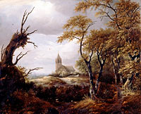 Якоб Исаакс ван Рёйсдал: Landscape with a Church