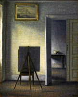 Вильгельм Хаммерсхёй: Interior with the Artist's Easel