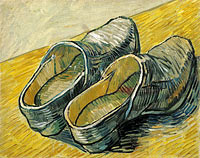 A pair of leather clogs (2)