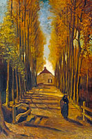 Avenue of poplars in autumn (2)