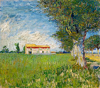 Vincent van Gogh: Farmhouse in a wheat field