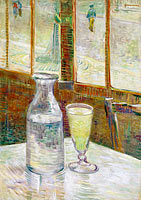 Café table with absinth