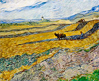 Vincent van Gogh: Enclosed Field with Ploughman (2)