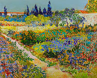 Винсент Ван Гог: Garden at Arles / Flowering Garden with Path