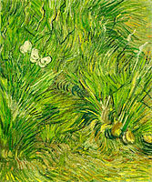 Vincent van Gogh: Garden with butterflies