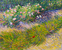 Vincent van Gogh: Grass and butterflies