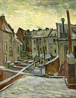 Vincent van Gogh: Houses seen from the back