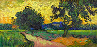 Vincent van Gogh: Landscape at twilight