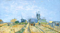 Vincent van Gogh: Montmartre: mills and vegetable gardens
