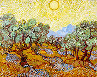 Vincent van Gogh: Olive Trees / Olive Trees with yellow sky and sun