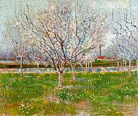 Vincent van Gogh: Orchard in Blossom (Plum Trees) (1)