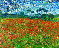 Vincent van Gogh: Field with Poppies / Poppy field