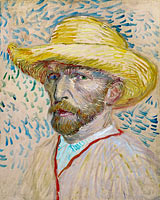 Self-Portrait with Straw Hat (6)