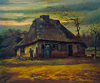 Vincent van Gogh: The cottage (3)