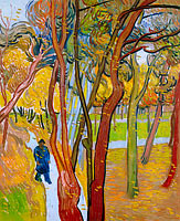 Vincent van Gogh: The garden of Saint Paul's Hospital (`The fall of the leaves')