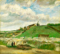 The hill of Montmartre with stone quarry (1)