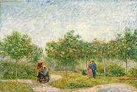 Garden in Montmarte with lovers