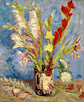 Vincent van Gogh: Vase with gladioli and China asters