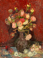 Vincent van Gogh: Vase with Chinese asters and gladioli
