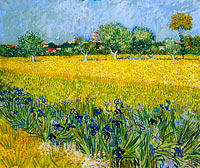 Винсент Ван Гог: Field with flowers near Arles